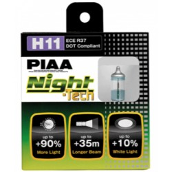 Lot de 2 ampoules PIAA NIGHT Tech - H11 12v  55w/110w
