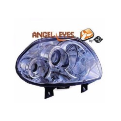 Paire de phares Angel Eyes Chrome pour Renault Clio II