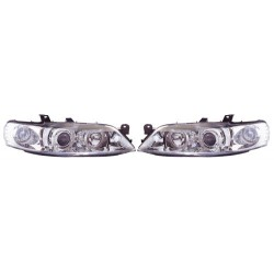 Paire de phares Angel Eyes Chrome pour Opel Vectra B de 1999 à  2002