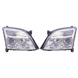 Paire de phares Angel Eyes Chrome pour Opel Vectra C de 2002 à  2003