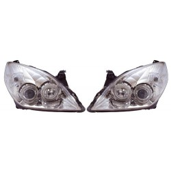 Paire de phares Angel Eyes Chrome pour Opel Vectra C de 2003 à  2005