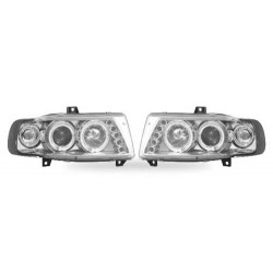 Paire de phares Angel Eyes Chrome pour Seat Ibiza de 1995 à  1998