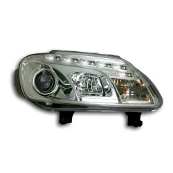 Paire de phares devil eyes Chrome Pour Volkswagen VW Touran 2003-2005