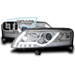 "Paire de phares LTI ""Light Tube Inside"" pour Audi A6 (4F de 2004 a 2008)"
