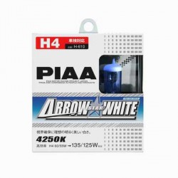 Lot de 2 ampoules PIAA Arrow Star White - H4 12V 60/55W a 135/125W